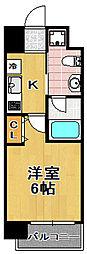 CITY PAL TAISHO[4階]の間取り