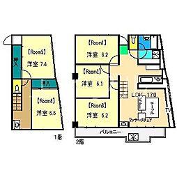 アパートルルル[2階]の間取り