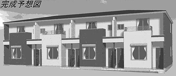 愛知県岡崎市藤川荒古1丁目の賃貸アパートの外観