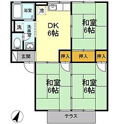 サニーハウス A棟[102号室]の間取り