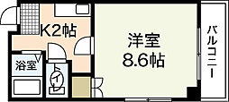 広島県広島市中区加古町の賃貸マンションの間取り