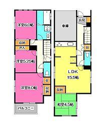 [一戸建] 埼玉県所沢市小手指町3丁目 の賃貸【/】の間取り