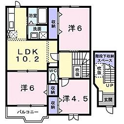 ローブレT・K[2階]の間取り