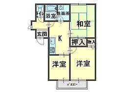 クーミーハウス 岸和田[1階]の間取り