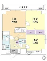 Inoue Bldg[601号室]の間取り