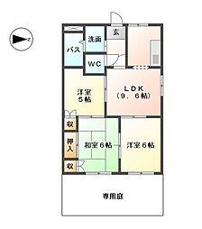 カモミール二番館[1階]の間取り