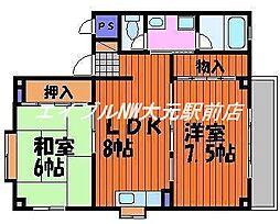 KOMAHOUSEII[1階]の間取り