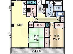 ファンタジスタ 4階2SLDKの間取り