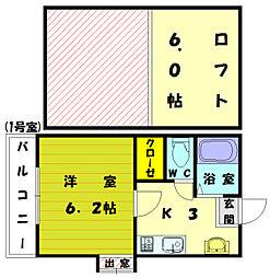 フーガアネックス3号館[1階]の間取り