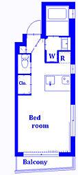 NEXUSヴァンヴェール 3階ワンルームの間取り