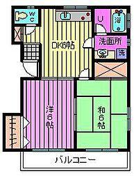 コーポ石田[2階]の間取り