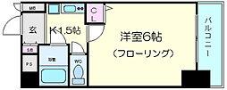 エステムコート梅田北[8階]の間取り