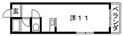 大阪府大阪市東住吉区鷹合2丁目の賃貸マンションの間取り
