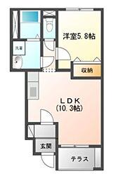 St.Field横濱泉[1階号室]の間取り