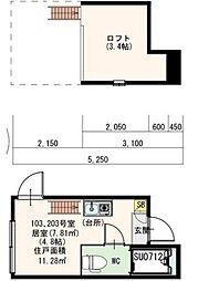 DHG快(カイ)[103号室号室]の間取り