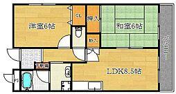 エスポワール新中条[1階]の間取り