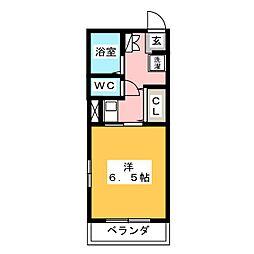 愛知県名古屋市千種区南明町2丁目の賃貸アパートの間取り