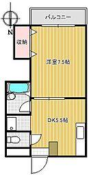 JIYUGAOKA FUKI[3階]の間取り