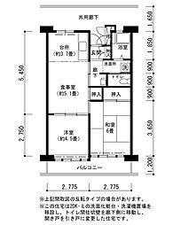 津久野南団地[9階]の間取り