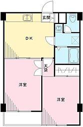 ユーコート久我山[203号室号室]の間取り