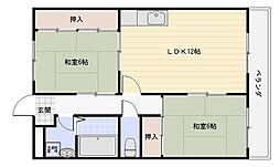 椋風苑B棟[3階]の間取り