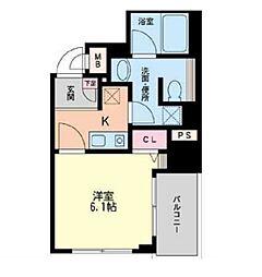 フォレステージュ北堀江[9階]の間取り
