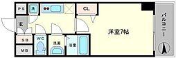 レジュールアッシュ難波MINAMI− II[9階]の間取り