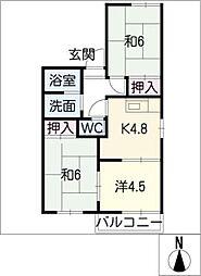 タウニー藤田[1階]の間取り