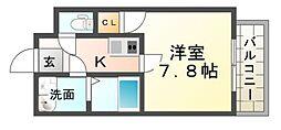 ラージヒル尼崎東[1階]の間取り