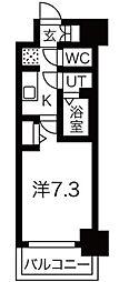 ファステ―ト難波グランプリ 2階1Kの間取り