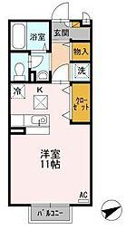 広島県福山市川口町2丁目の賃貸アパートの間取り