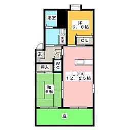 メゾン・ラ・クロセットA[1階]の間取り