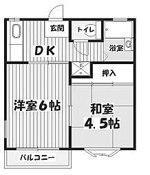 ハートヒルズA棟[2階]の間取り