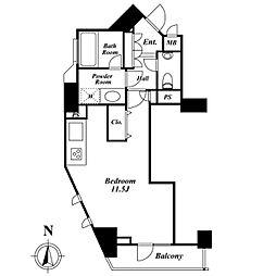 ドゥーエ西麻布1[9階]の間取り