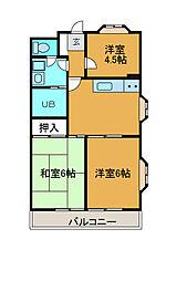 クラシオン[2階]の間取り