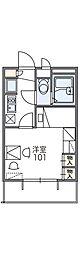 Osaka Metro南港ポートタウン線 平林駅 徒歩3分の賃貸マンション 2階1Kの間取り