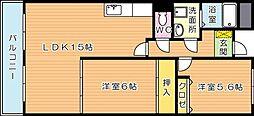 パークサイド萩原[5階]の間取り