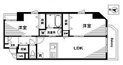 アイマンションII[602号室]の間取り