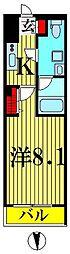 東武伊勢崎線 東向島駅 徒歩11分の賃貸マンション 3階1Kの間取り
