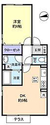 中央ハイツ[1階]の間取り