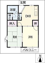 ハッピーメゾン C棟[1階]の間取り