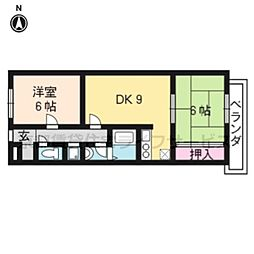 アフリー太田II[3階]の間取り