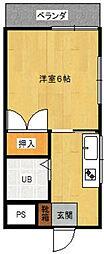 鳥海ハイツ[2階]の間取り