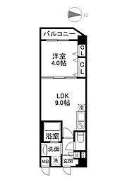 パーフェクトライフ京橋駅前[2階]の間取り