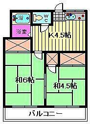 コーポ稲垣[201号室]の間取り