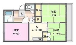 愛知県名古屋市名東区社が丘3の賃貸マンションの間取り