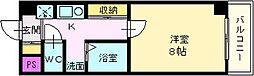 大阪府堺市北区百舌鳥本町2丁の賃貸マンションの間取り
