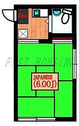 東京都渋谷区神宮前3丁目の賃貸アパートの間取り