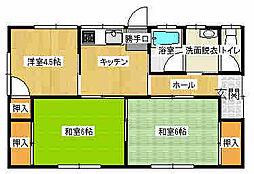 [一戸建] 栃木県栃木市大平町新 の賃貸【/】の間取り