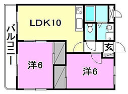 マリベール筒井[102 号室号室]の間取り